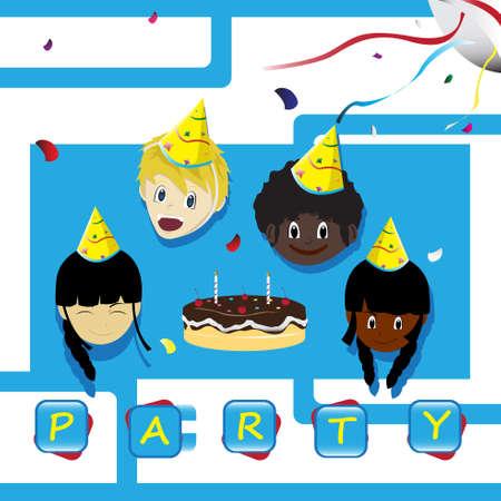 A vector illustration of a birthday invitation card