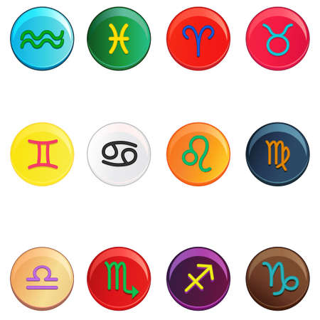 A vector illustration of colorful zodiac signs Vector
