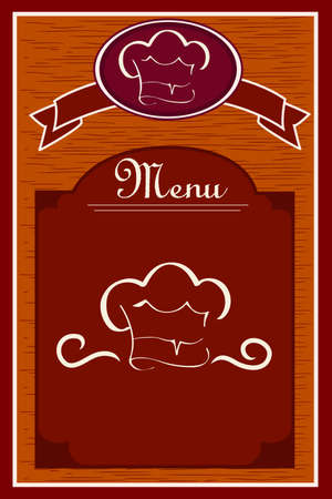 food industry:  illustration of a restaurant menu