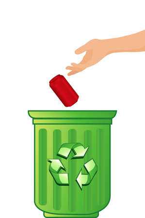 illustration of a recycling concept