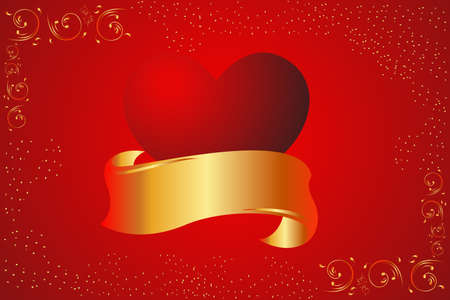 A vector illustration of valentine card background Stock Vector - 8831157