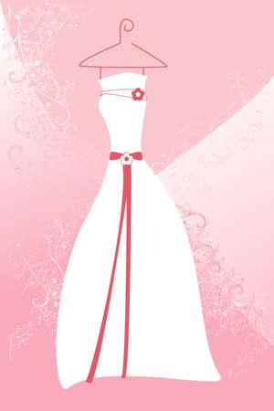 ウェディング ドレスのベクトル イラスト