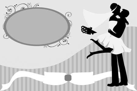 A Vector illustration of wedding celebration