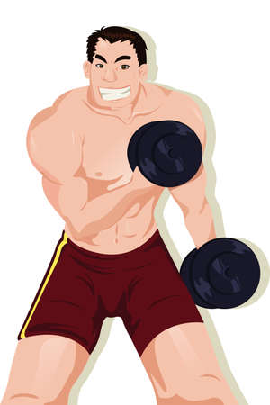 A Vector illustration of a muscular sporty athlete Stock Vector - 8845643
