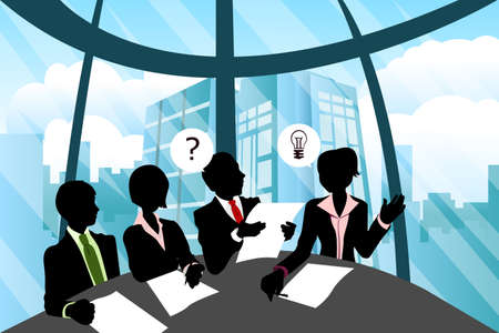 A group business people in a meeting Vector