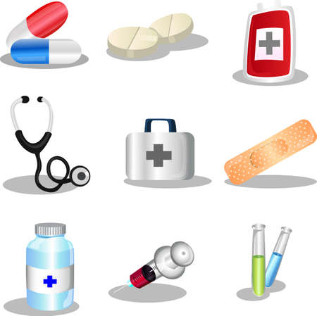 medicine icons: A set of medical icons