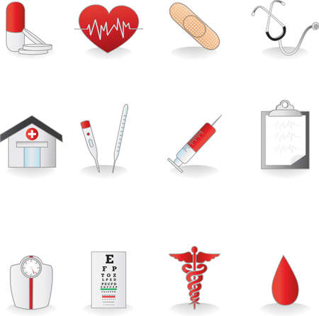 scale icon: A set of medical icons