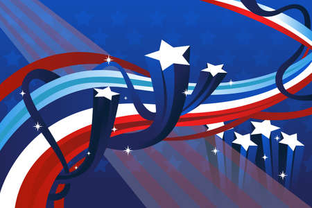 A vector illustration of a fourth of July banner Vector