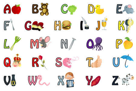 A set of alphabet