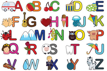 A set of alphabet letters Vector