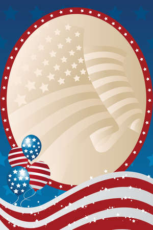 A fourth of July banner Ilustrace