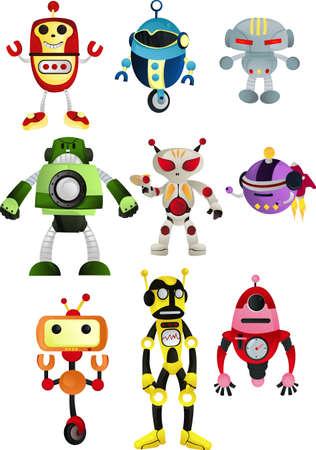 Illustration d'un ensemble de robots Banque d'images - 9295633