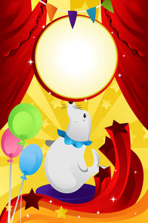 A vector illustration of a circus theme, can be used for circus business advertising