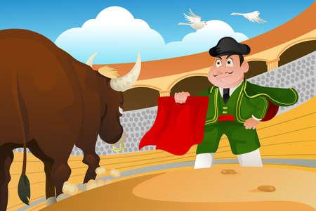 torero: Ein Matador und ein Stier