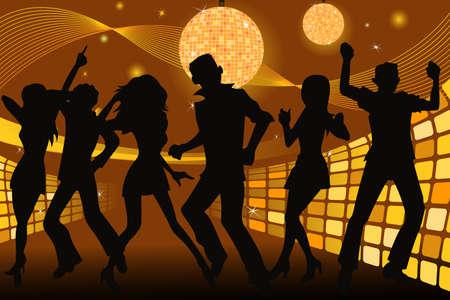 giovani a feste e ballare in una discoteca