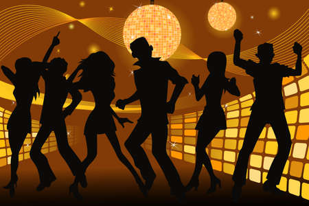 young people partying and dancing in a disco club