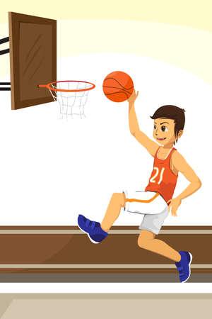 A basketball player Stock Vector - 9537088