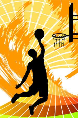 농구 선수의 그림 일러스트