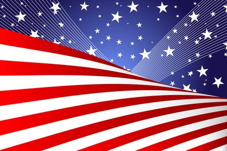 illustration of a Fourth of July banner Vector