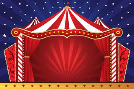 illustratie van een circus achtergrond