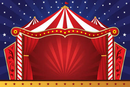 festive background: illustration of a circus background