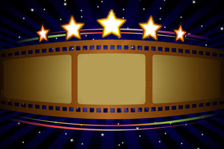 film industry: A vector illustration of a movie theater background