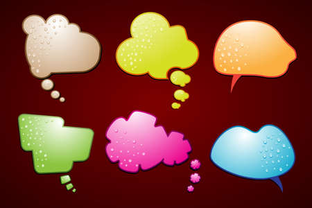 chat bubbles: A vector illustration of a set of speech bubbles