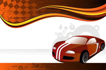 A vector illustration of an automobile or car banner