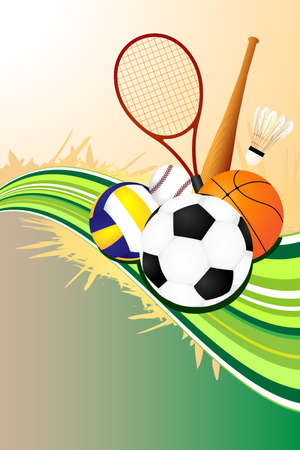 sports vector: A vector illustration of ball sports background