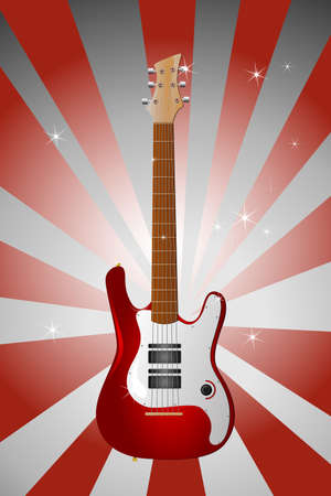 A vector illustration of an electric guitar