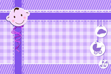 backgrounds: A vector illustration of a baby shower greeting card for a boy