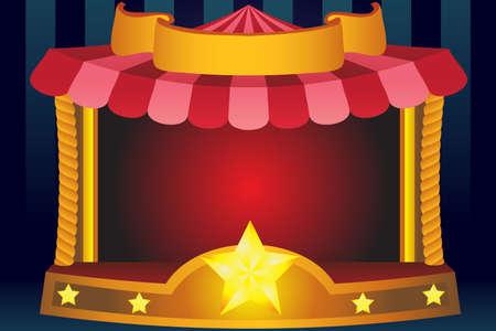 fondo de circo: Una ilustraci�n vectorial de un fondo de circo