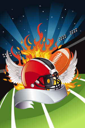 A vector illustration of American football design 일러스트