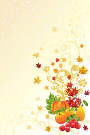illustratie van een herfst of in de val seizoen achtergrond