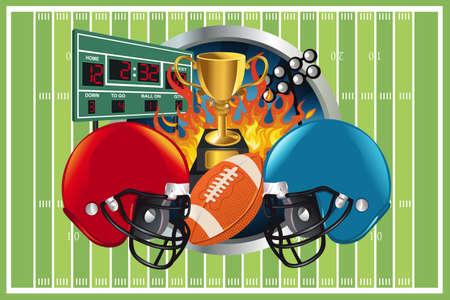 Een illustratie van een American football-achtergrond
