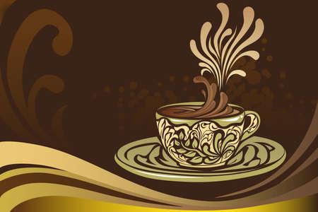 Een vector illustratie van een koffiemok Stock Illustratie