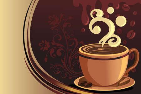 tazas de cafe: Una ilustración vectorial de una taza de café