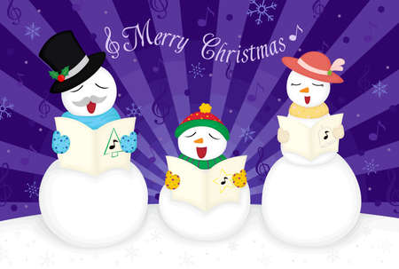 illustration of a Merry Christmas greeting card Vector