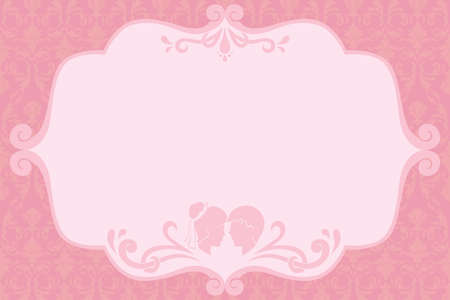 holiday invitation: A vector illustration of a wedding invitation design Illustration