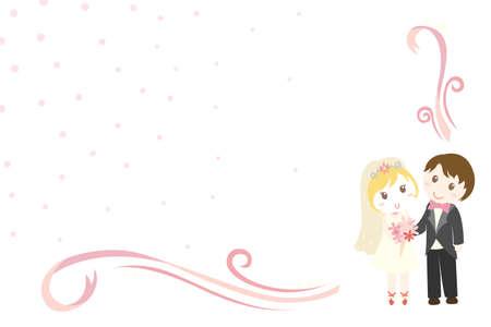 A vector illustration of a wedding invitation design Illustration