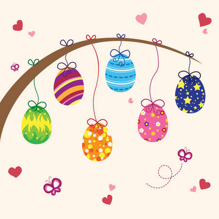 A vector illustration of Easter eggs design