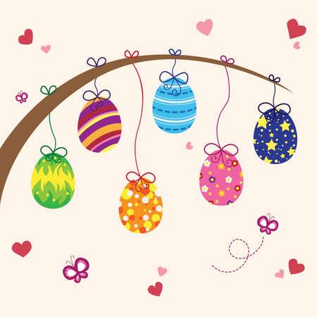A vector illustration of Easter eggs design