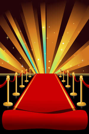 A illustration of red carpet background Vector