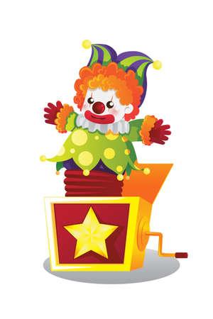 Een illustratie van Jack in the box Stock Illustratie