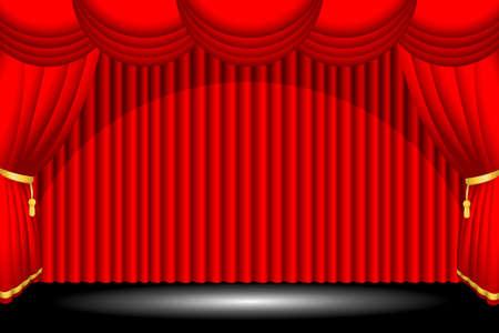 broadway show: Una illustrazione vettoriale di uno sfondo fase rossa