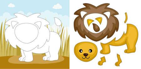 A vector illustration of a lion puzzle Stock fotó - 13042920