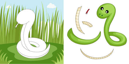 snakes: A vector illustration of a snake puzzle