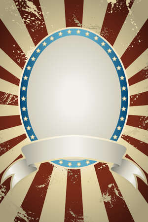 A illustration of American background with copyspace Vector