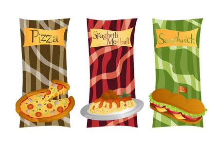 Eine Illustration der italienischen Speisekarte Standard-Bild - 13655047