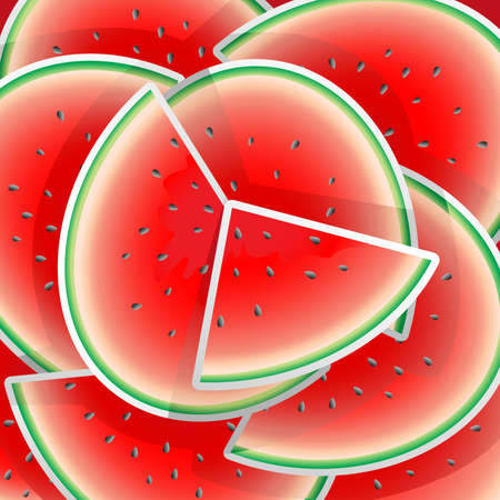 A illustration of watermelon pattern design